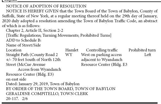 Public Notices Babylon Beacon